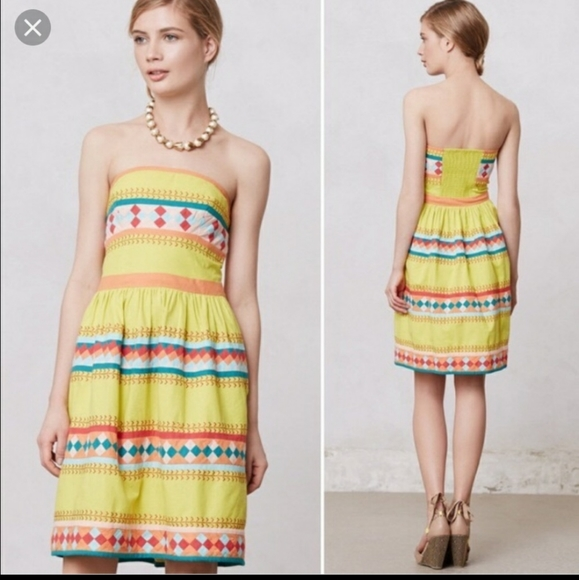 Anthropologie Dresses & Skirts - Anthropologie Ribboned Quilotoa Dress w/pockets